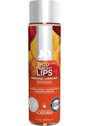 Jo H2o Flavored Water Based Lubricant Peachy Lips 4 Ounce