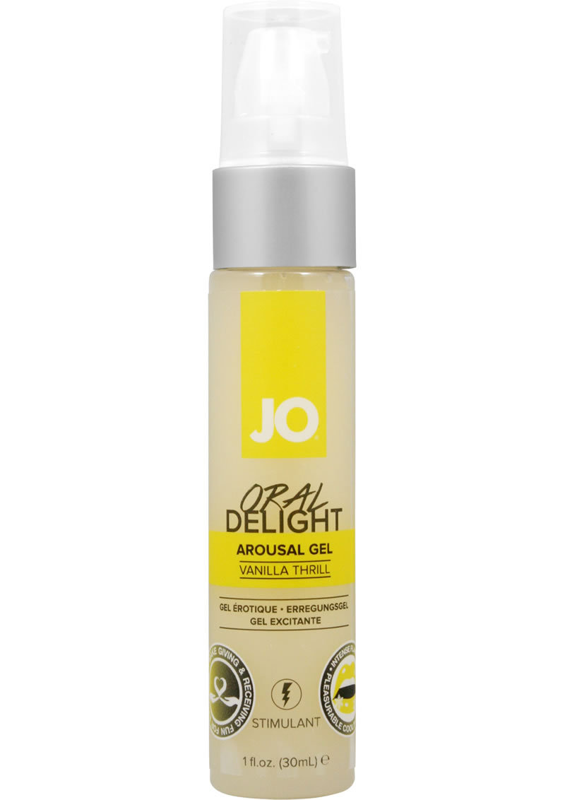 Jo Oral Delight Flavored Arousal Gel Vanilla Thrill 1 Ounce