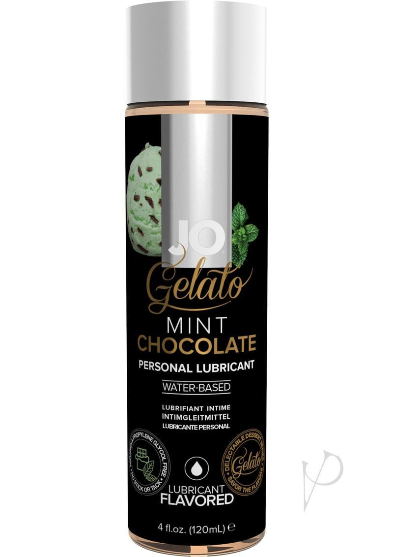 Jo Gelato Water Based Personal Lubricant Mint Chocolate 4 Ounce Bottle