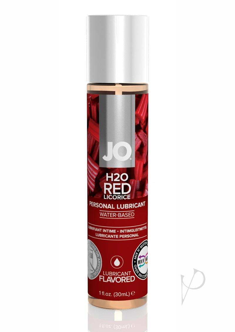Jo H2o Flavored Water Based Lubricant Red Licorice 1 Ounce
