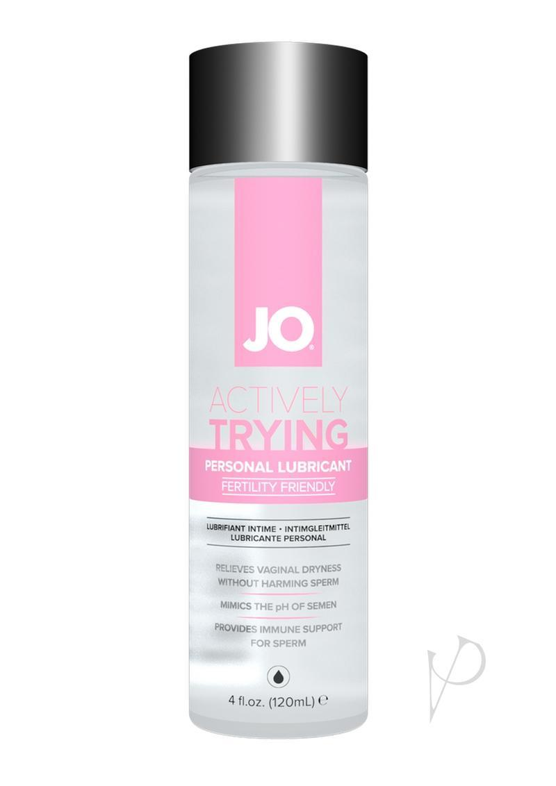 Jo Actively Trying Personal Lubricant Fertility Friendly Water-based Lubricant 4 Fluid Ounces