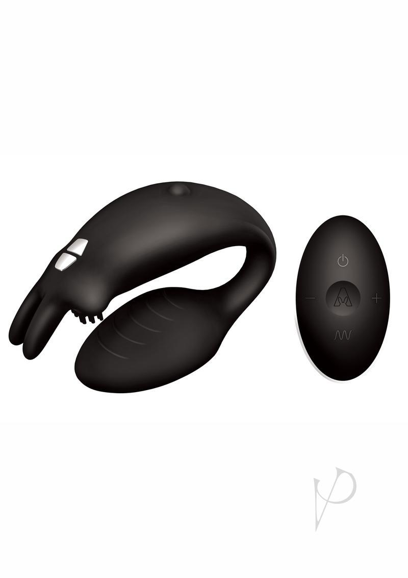 The Rabbit Company The Couples Rabbit Silicone Black